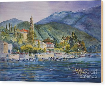 Approaching Bellagio Wood Print by Betsy Aguirre