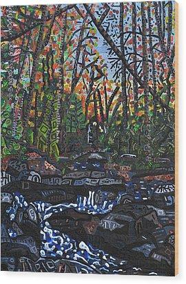 Approaching Big Bradley Falls Wood Print by Micah Mullen