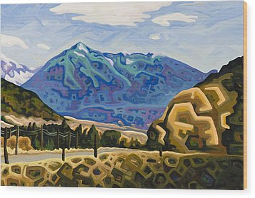 Approaching Garrison Junction Wood Print by Dale Beckman