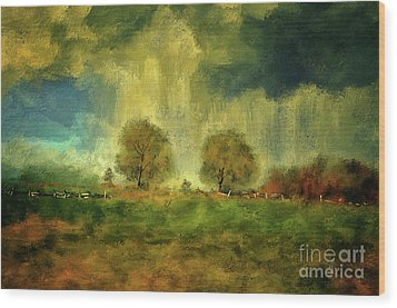 Wood Print featuring the digital art Approaching Storm At Antietam by Lois Bryan