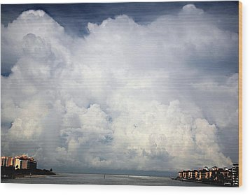 Wood Print featuring the photograph Approaching Storm by Carol Kinkead