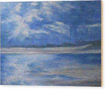 Approaching Storm Wood Print by Lynne Vokatis