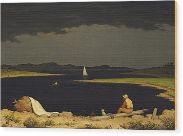Approaching Thunderstorm Wood Print by Martin Heade