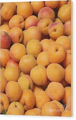 Apricots Wood Print by Carol Groenen