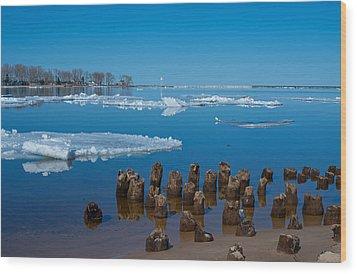 April Ice Wood Print
