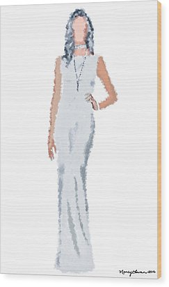 Wood Print featuring the digital art April by Nancy Levan