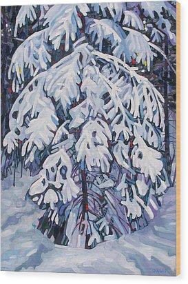 April Snow Wood Print by Phil Chadwick
