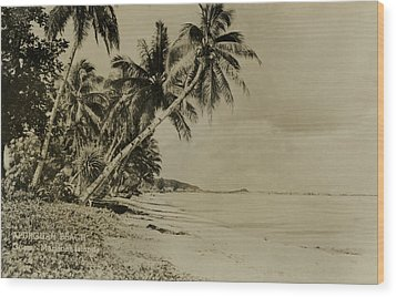 Apurguan Beach Guam Marianas Islands Wood Print by eGuam Photo