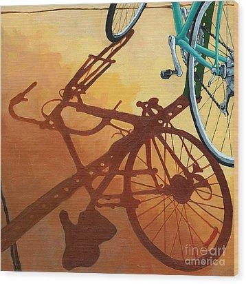 Aqua Angle Wood Print