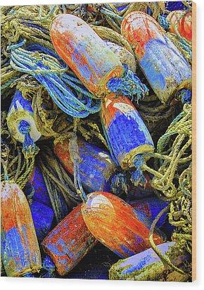 Aqua Hedionda Wood Print
