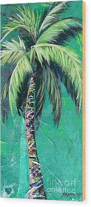 Aqua Palm Wood Print