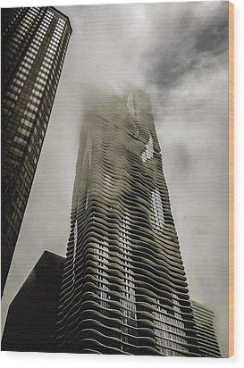 Aqua Skyscraper Wood Print