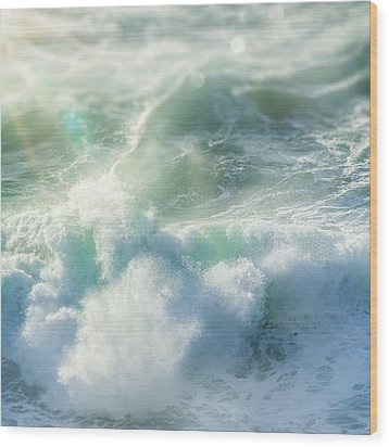 Wood Print featuring the photograph Aqua Surge by Amy Weiss