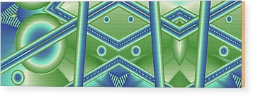 Aquamarine Wood Print by Ron Bissett