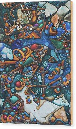 Aquariumalgam Wood Print by Devin Cogger