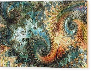Aquatica Wood Print by Kim Redd