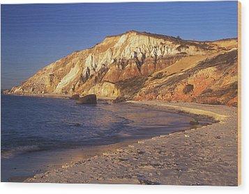 Aquinnah Gay Head Cliffs Wood Print