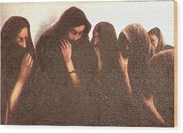 Arab Women Wood Print by James LeGros