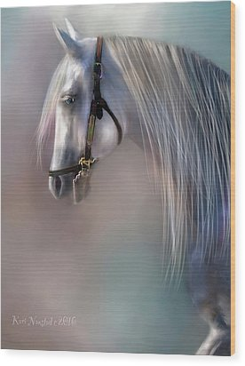 Wood Print featuring the digital art Arabian Grey by Kari Nanstad