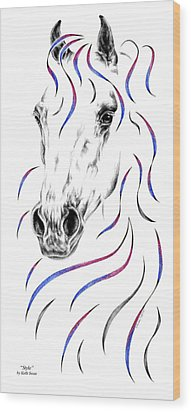 Arabian Horse Style Wood Print by Kelli Swan