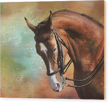 Wood Print featuring the photograph Arabian Horse by Theresa Tahara