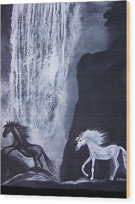 Arabians At Night Wood Print