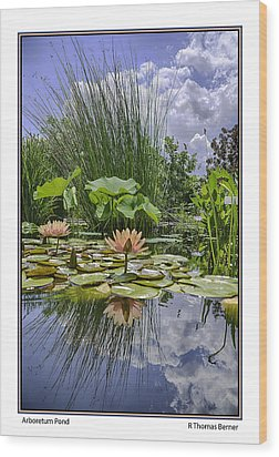 Arboretum Pond Wood Print by R Thomas Berner
