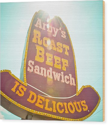 Arby's Wood Print by David Waldo