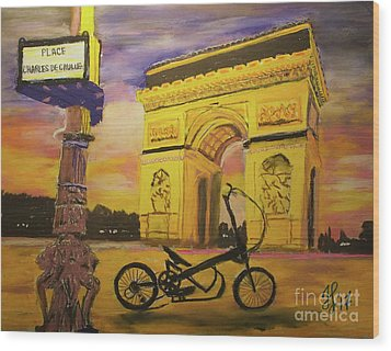 Arc De Triomphe Wood Print