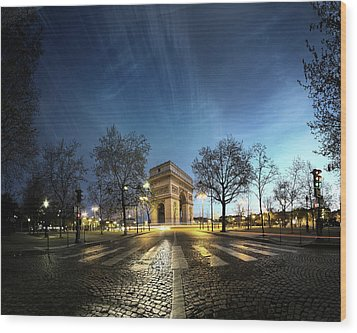 Arc Of Triumph Wood Print by Pascal Laverdiere