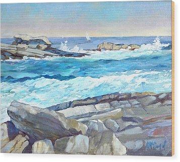 Arcadia Surf Wood Print by Michael McDougall