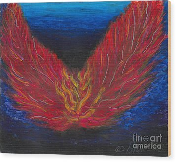 Wood Print featuring the painting Arch Angel Gabrielle  by Ania M Milo