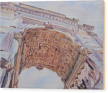 Arch Of Titus One Wood Print by Jenny Armitage