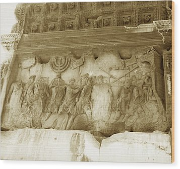 Arch Of Titus Wood Print by Photo Researchers, Inc.