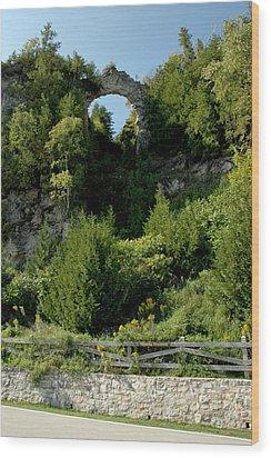 Wood Print featuring the photograph Arch Rock Mackinac Island by LeeAnn McLaneGoetz McLaneGoetzStudioLLCcom