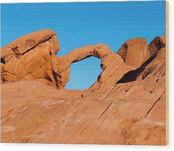 Arch Rock Wood Print by Rae Tucker