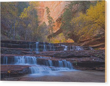 Wood Print featuring the photograph Archangel Falls In Autumn by Patricia Davidson