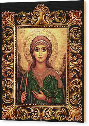 Archangel Gabriel Wood Print by Ananda Vdovic