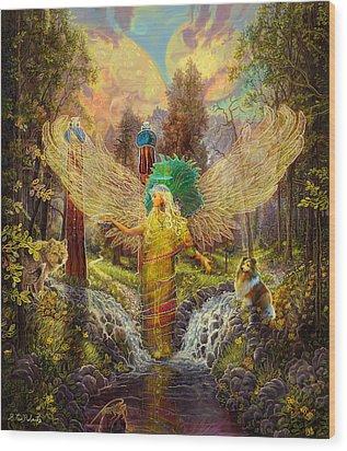 Archangel Haniel Wood Print