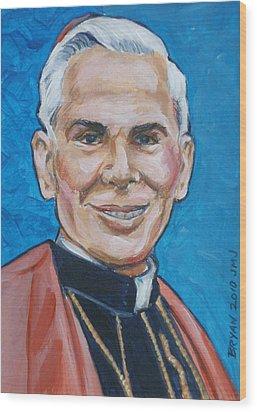 Archbishop Fulton J. Sheen Wood Print