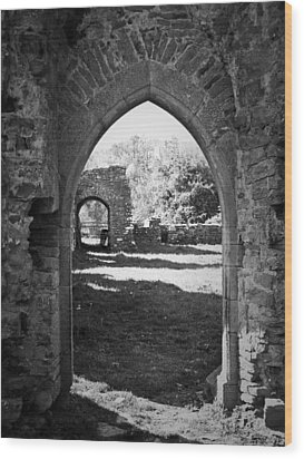 Arched Door At Ballybeg Priory In Buttevant Ireland Wood Print by Teresa Mucha