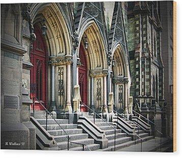 Arched Doorways Wood Print