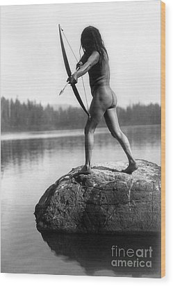 Archery: Nootka Indian Wood Print by Granger