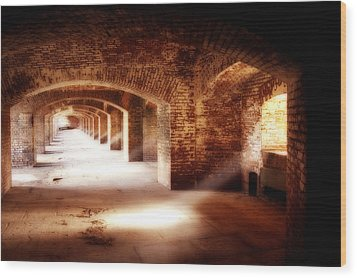 Arches And Beaming Light  Wood Print by George Oze