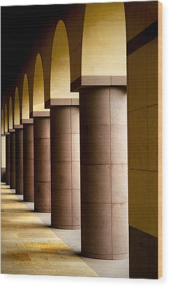 Arches And Columns 2 Wood Print by John Gusky