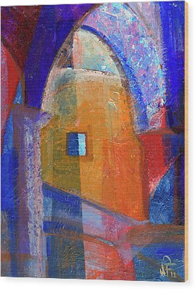 Arches And Window Wood Print by Walter Fahmy