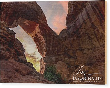 Wood Print featuring the photograph Arches by Jason Naudi
