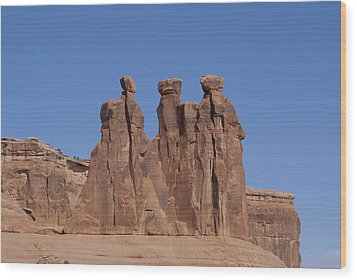 Arches National Park Wood Print by Cynthia Powell