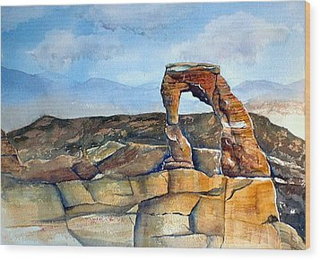 Arches National Park Wood Print by Debbie Lewis