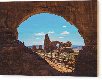 Wood Print featuring the photograph Arches National Park - North Window - Moab Utah Usa by Gregory Ballos